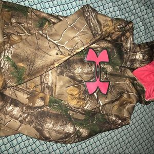 Women's camo and hot pink jacket